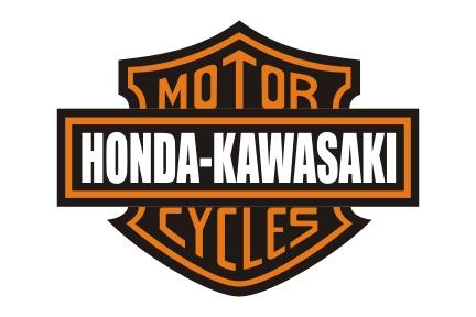 Honda and Kawasaki as Harley-Davidson